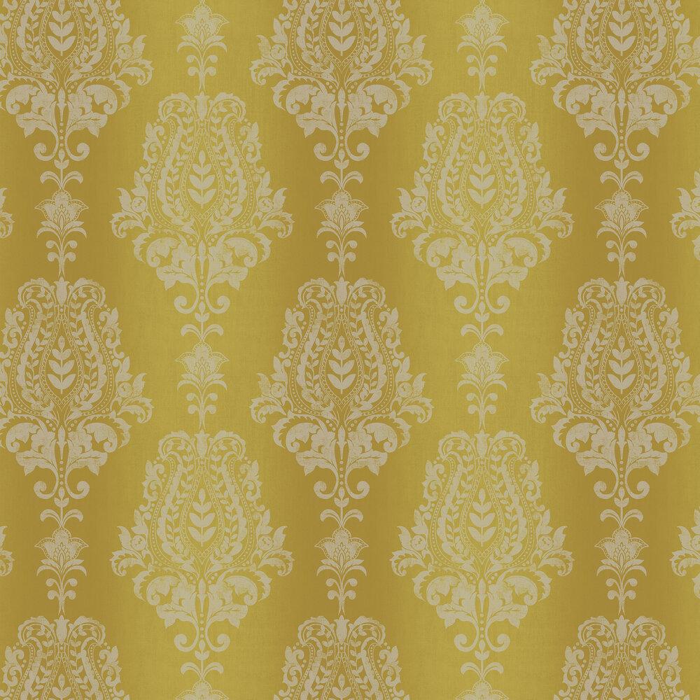 Jasmin Wallpaper - Citron - by SketchTwenty 3