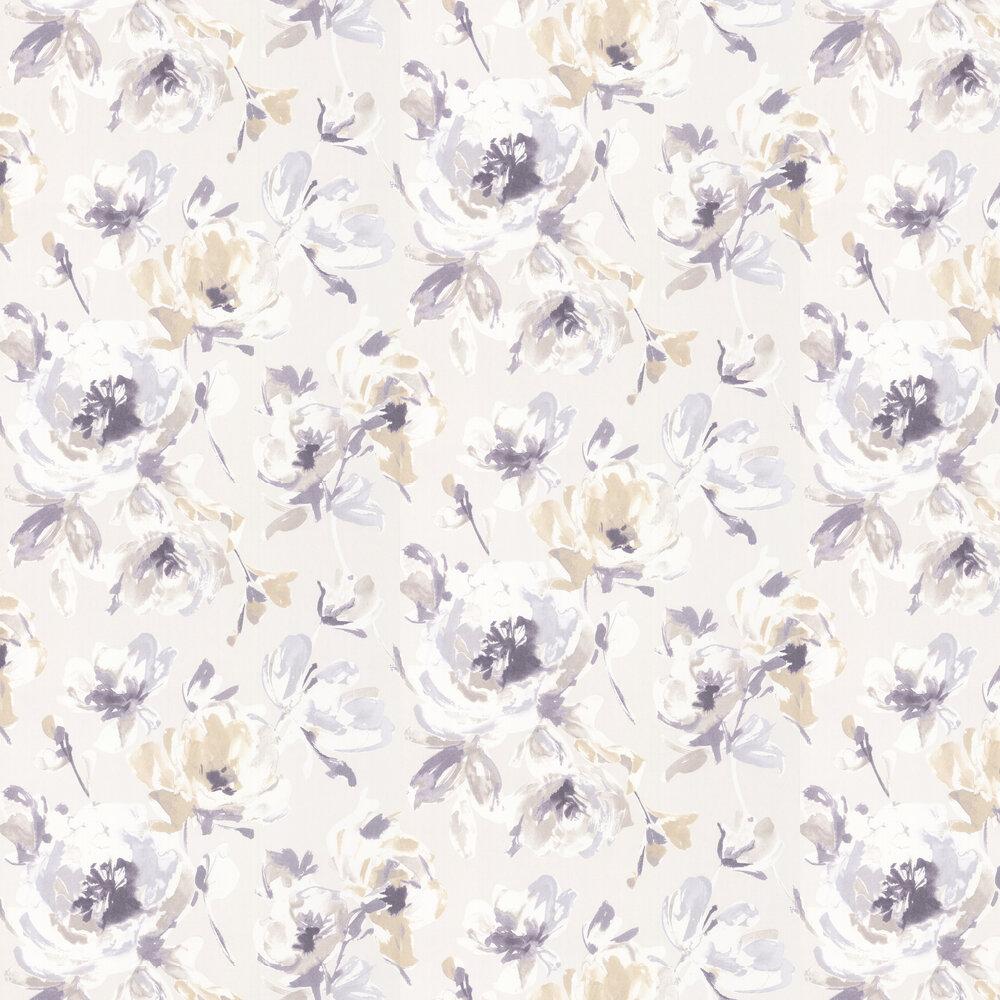Floral Print Wallpaper - Biege - by Casadeco