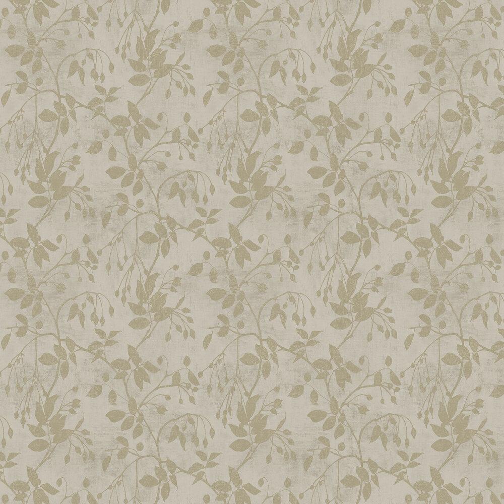 Leaf Wallpaper - Gold - by SketchTwenty 3