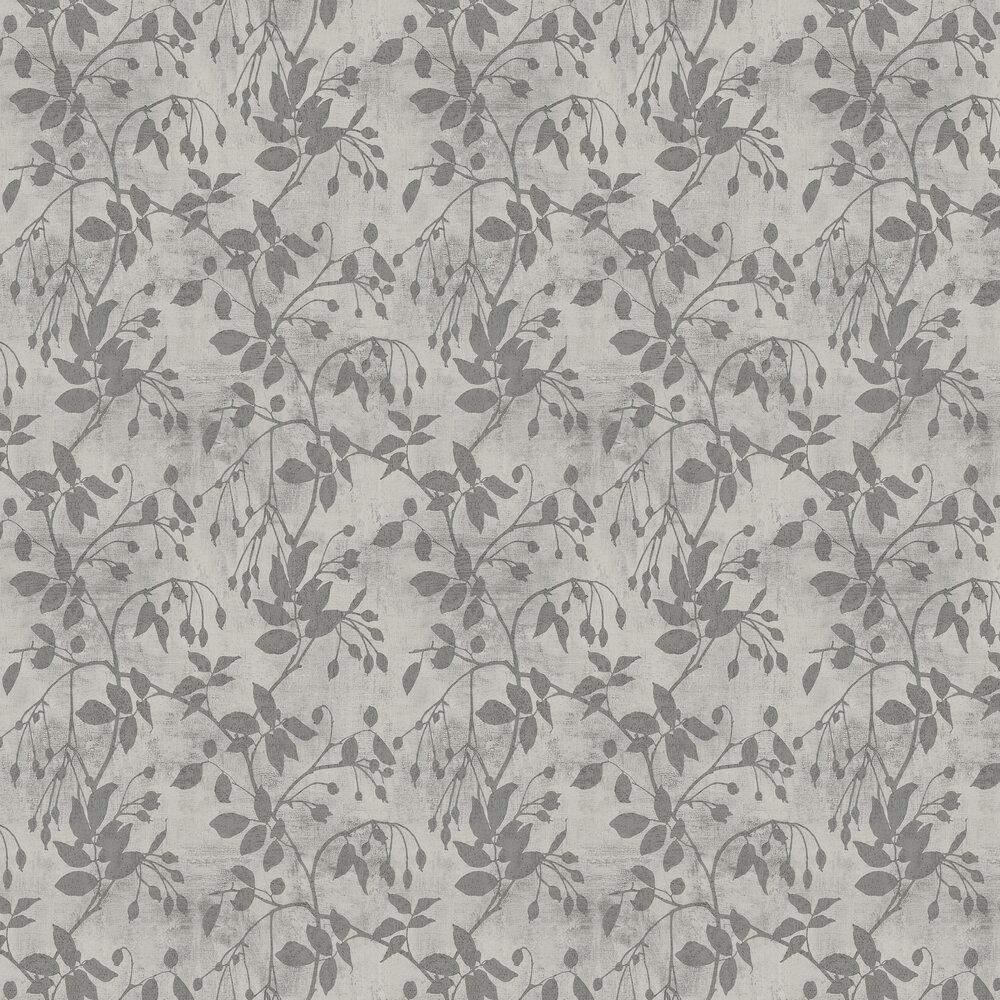 Leaf Wallpaper - Steel - by SketchTwenty 3