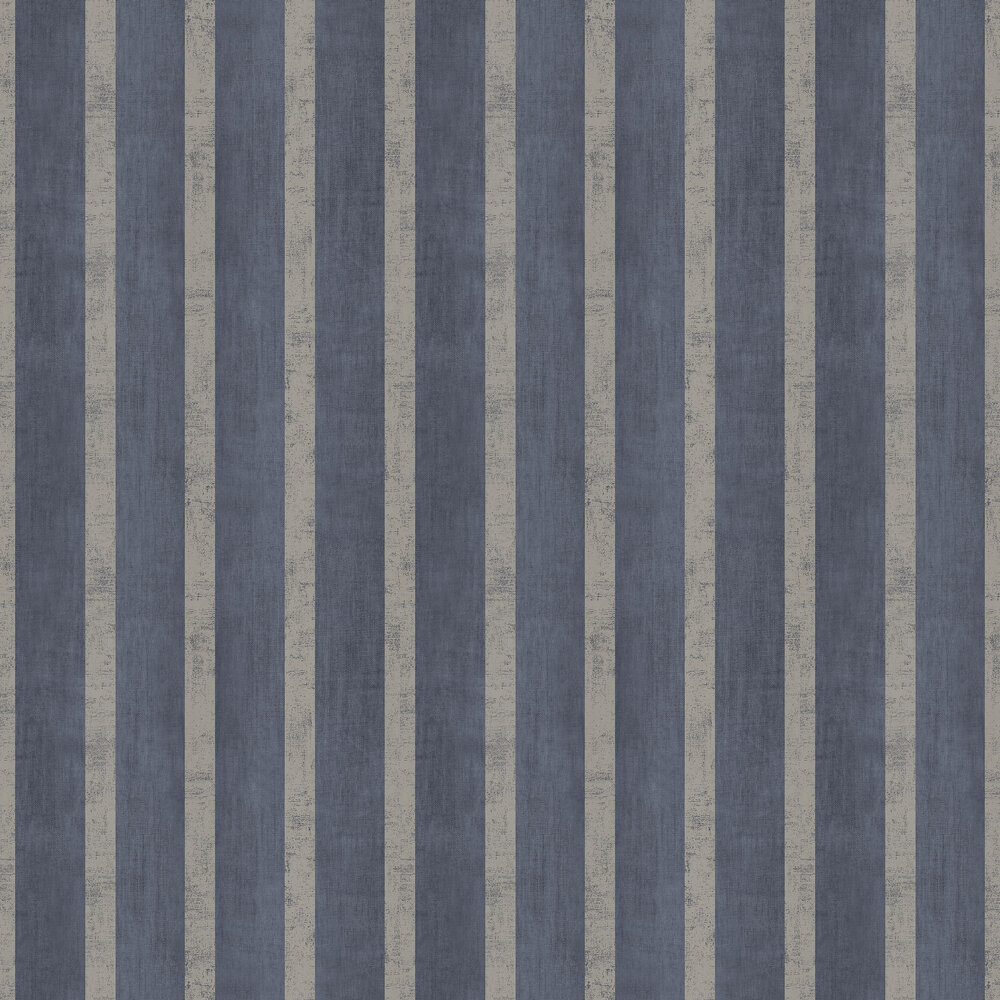 Jasmin Stripe Wallpaper - Denim - by SketchTwenty 3
