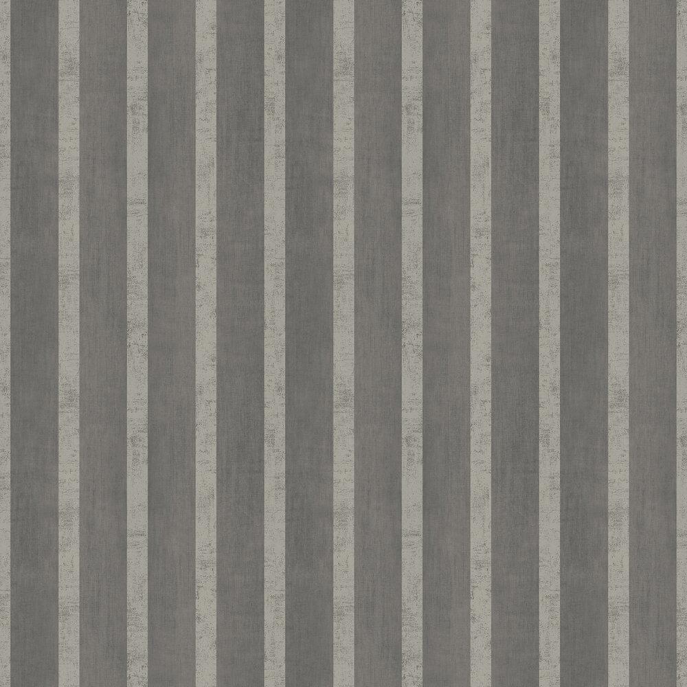 Jasmin Stripe Wallpaper - Noir - by SketchTwenty 3