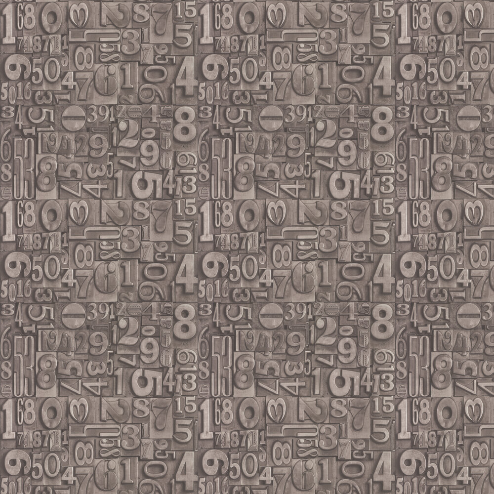 Type Face Wallpaper - Grey - by Casadeco