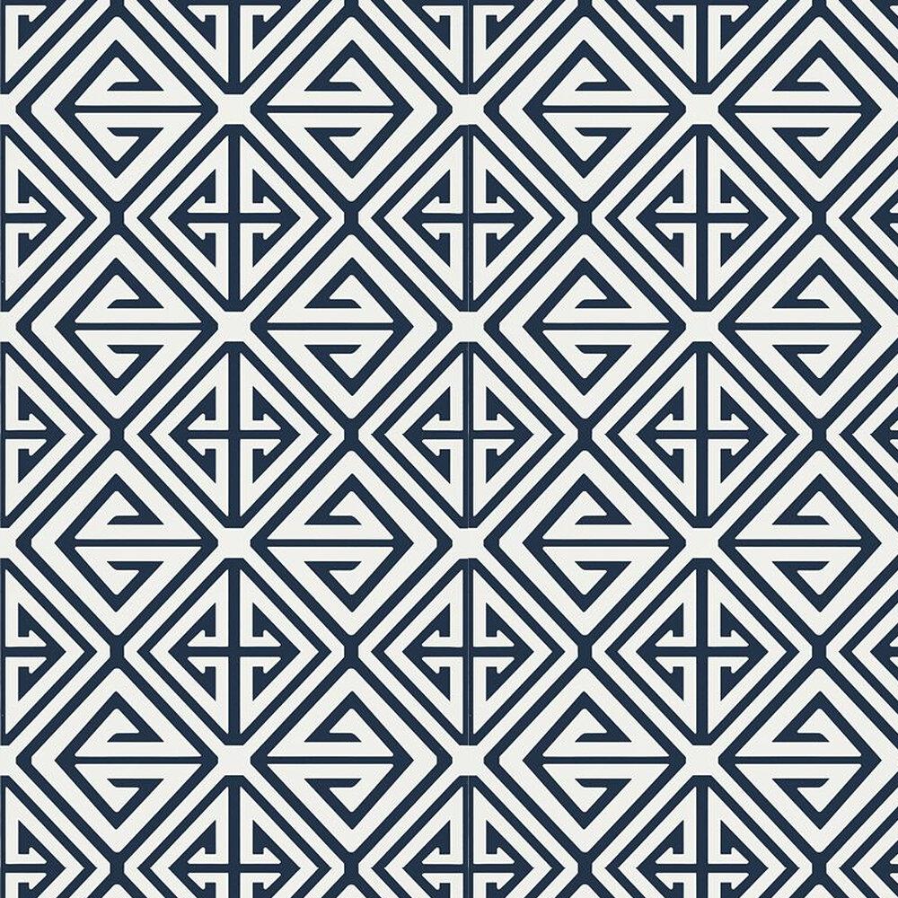 Demetrius by Thibaut - Navy - Wallpaper