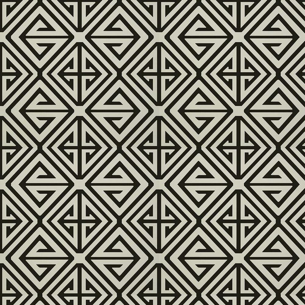 Demetrius Wallpaper - Black - by Thibaut