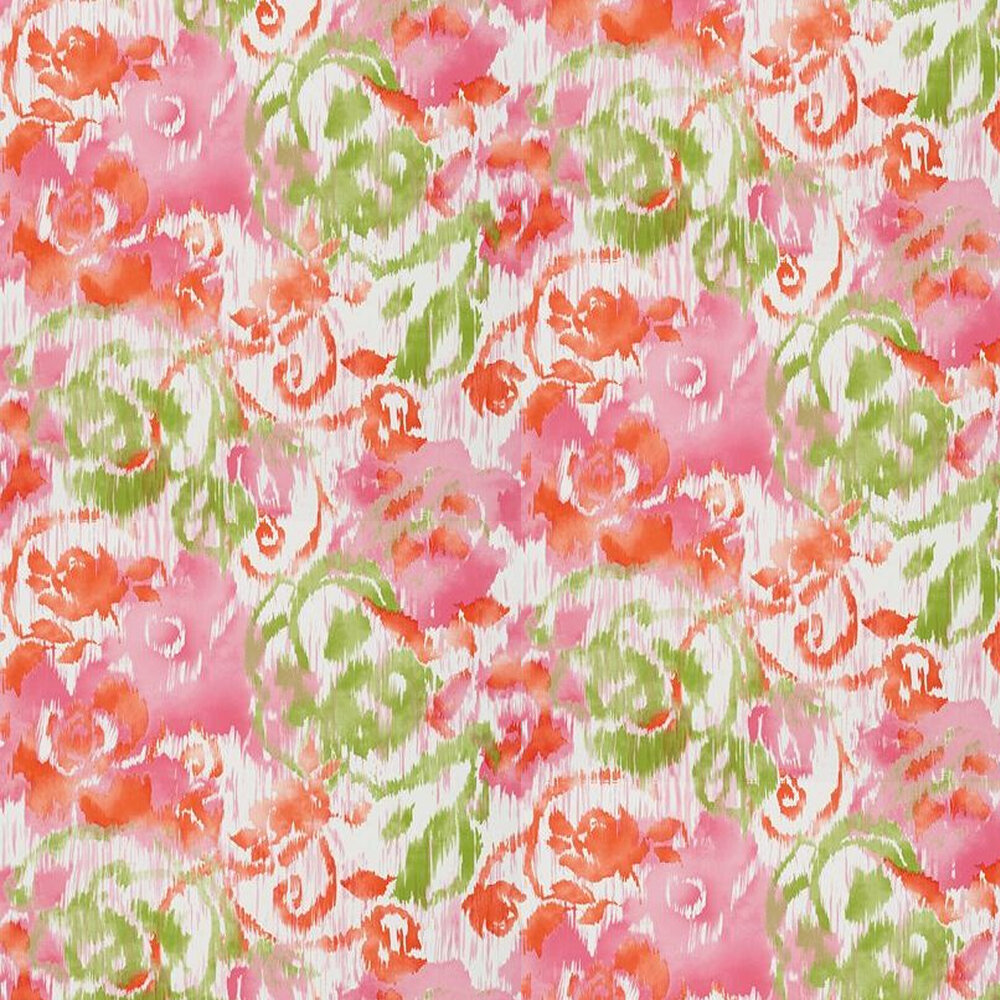 Waterford Floral Wallpaper - Pink - by Thibaut