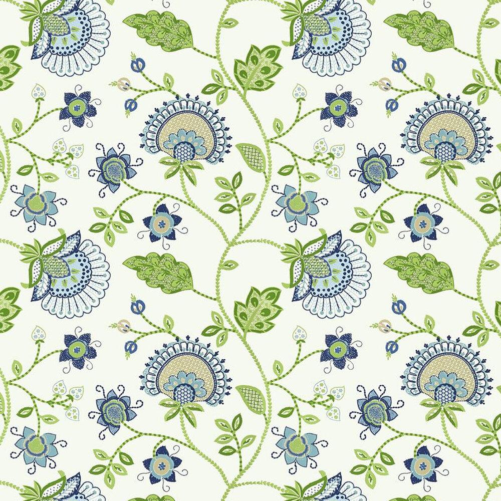Portofino Wallpaper - Blue - by Thibaut