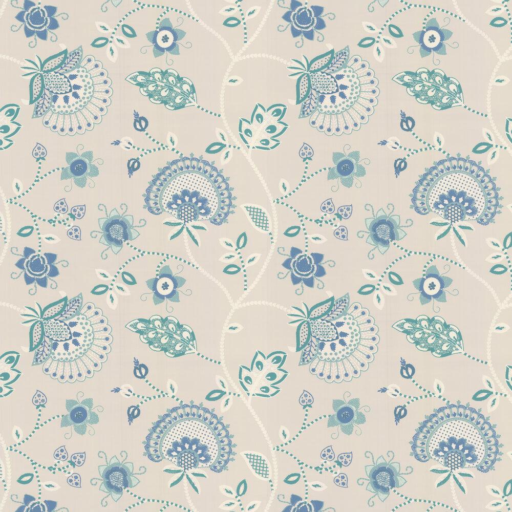 Portofino Wallpaper - Aqua - by Thibaut