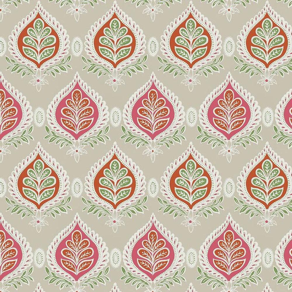 Midland Wallpaper - Pink - by Thibaut