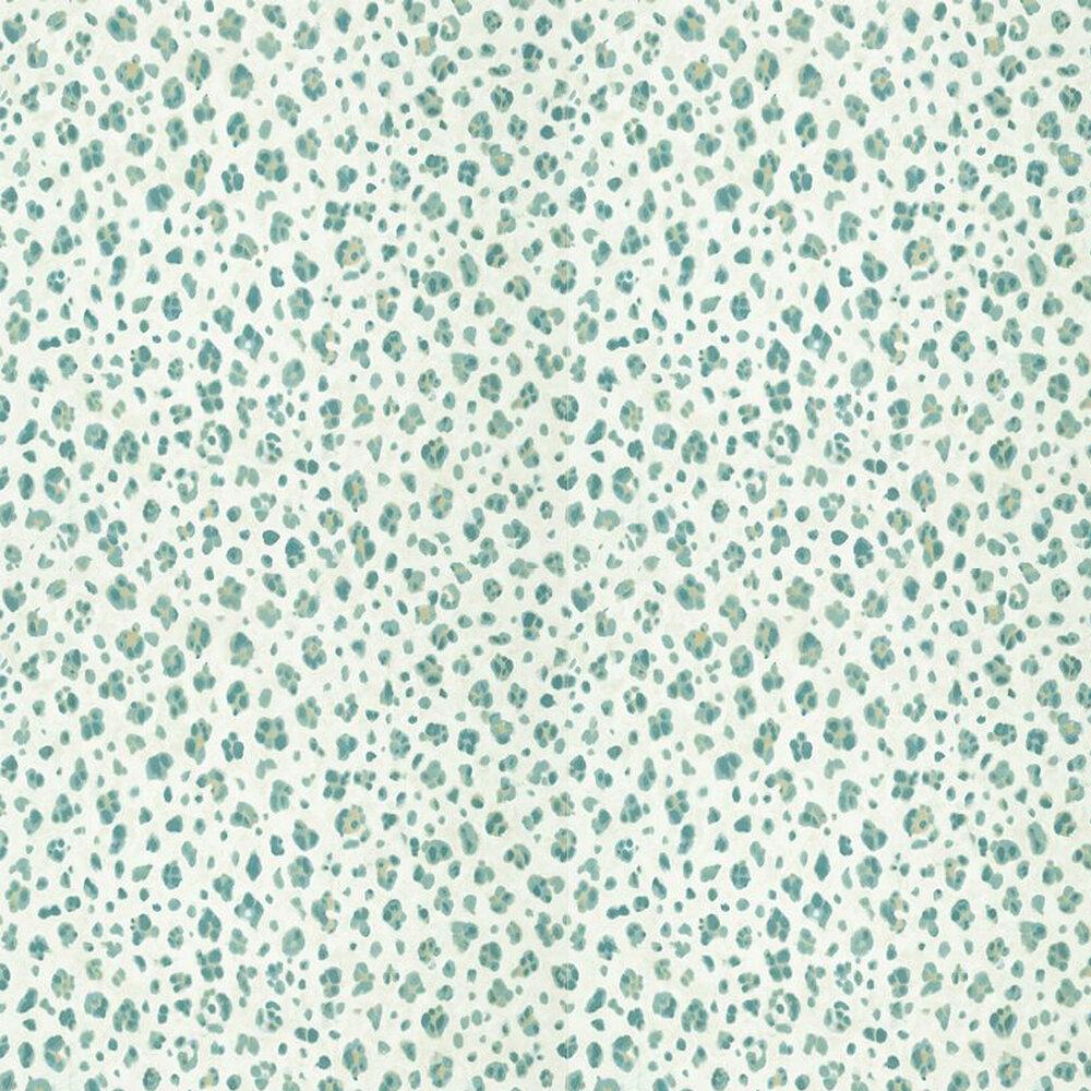 Panthera Wallpaper - Aqua - by Thibaut