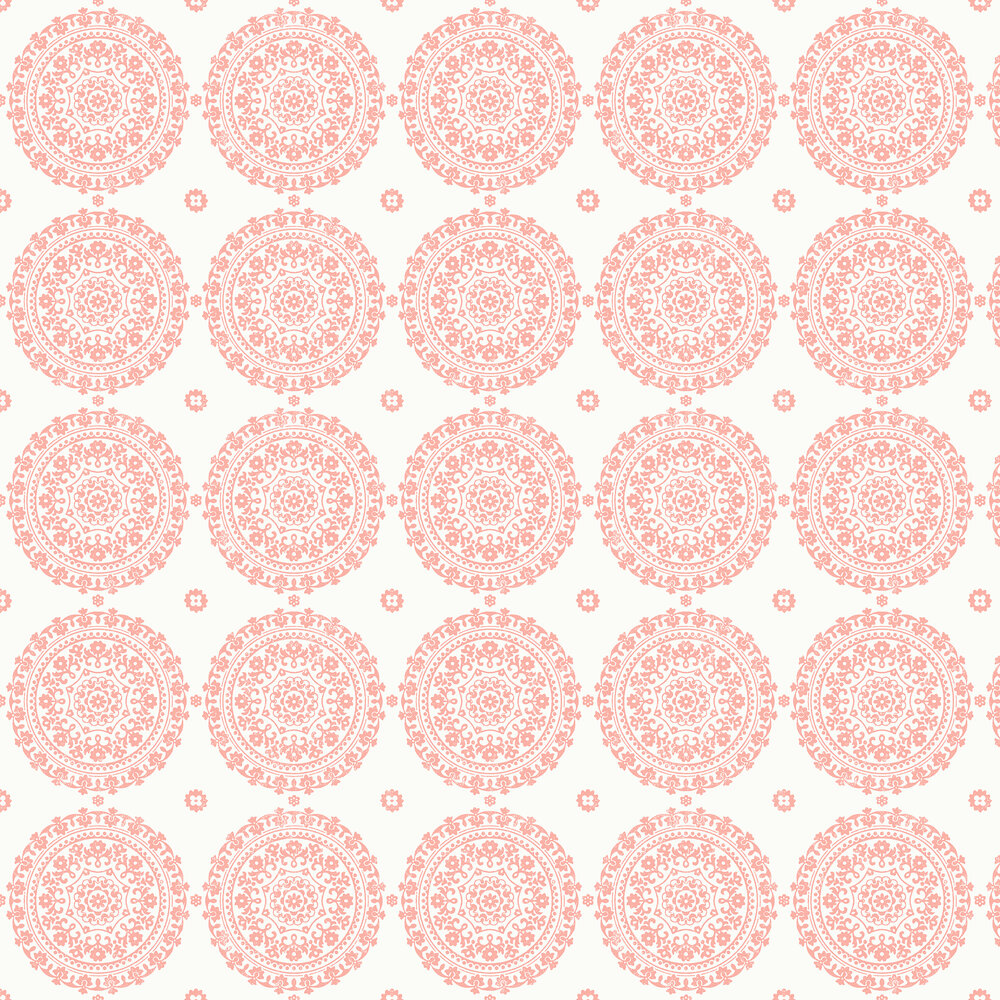 Mia Wallpaper - Padstow Pink - by Albany