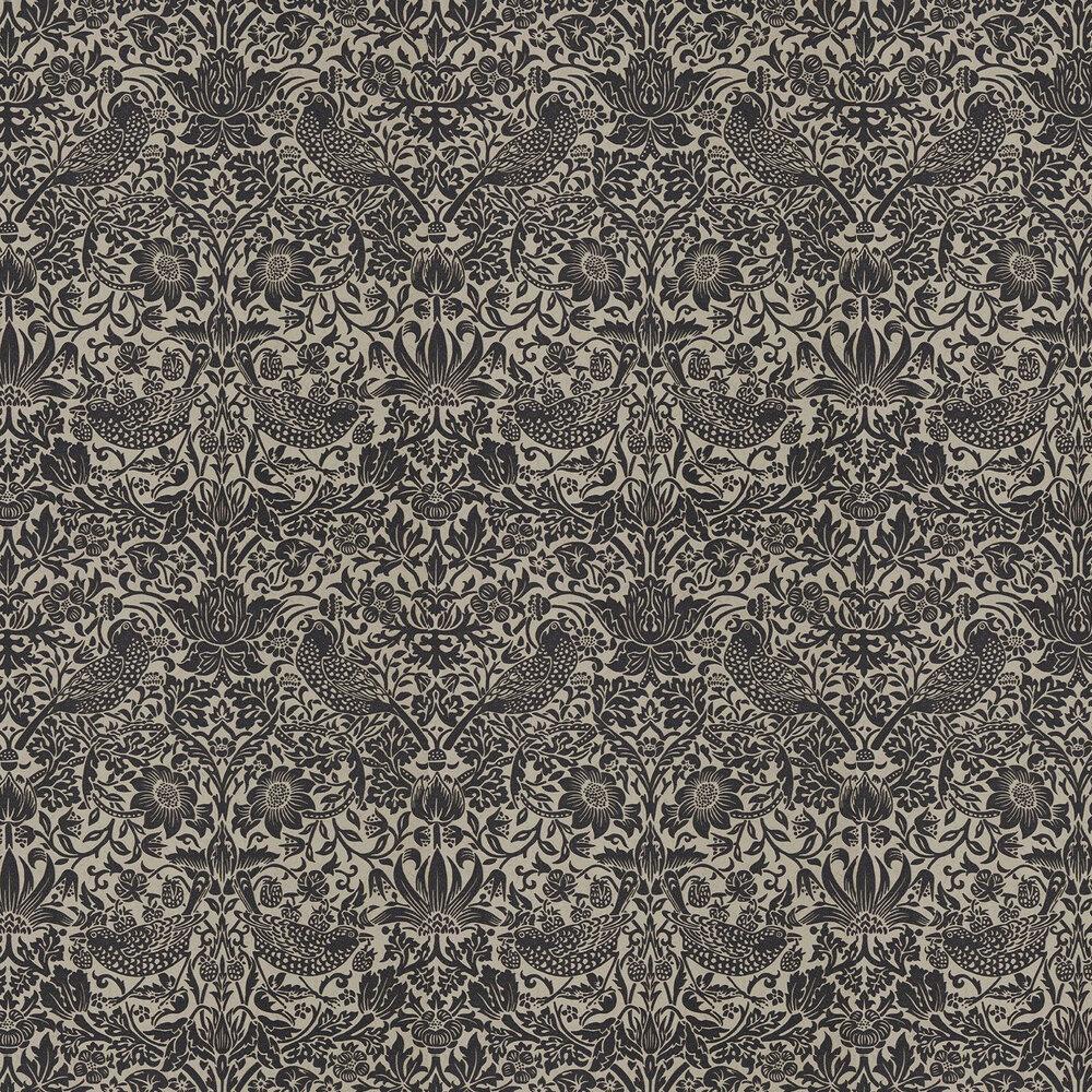 Morris Pure Strawberry Thief Gilver / Graphite Wallpaper - Product code: 216018