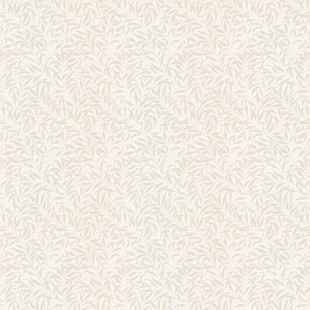 Pure Willow Bough Wallpaper - Ivory / Pearl - by Morris