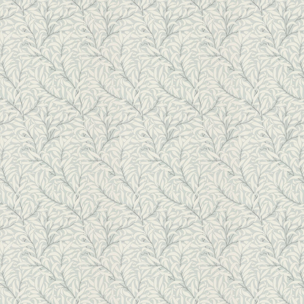Pure Willow Bough Wallpaper - Eggshell / Chalk - by Morris