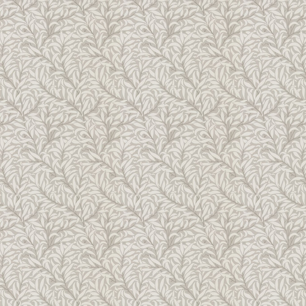 Pure Willow Bough Wallpaper - Dove / Ivory - by Morris