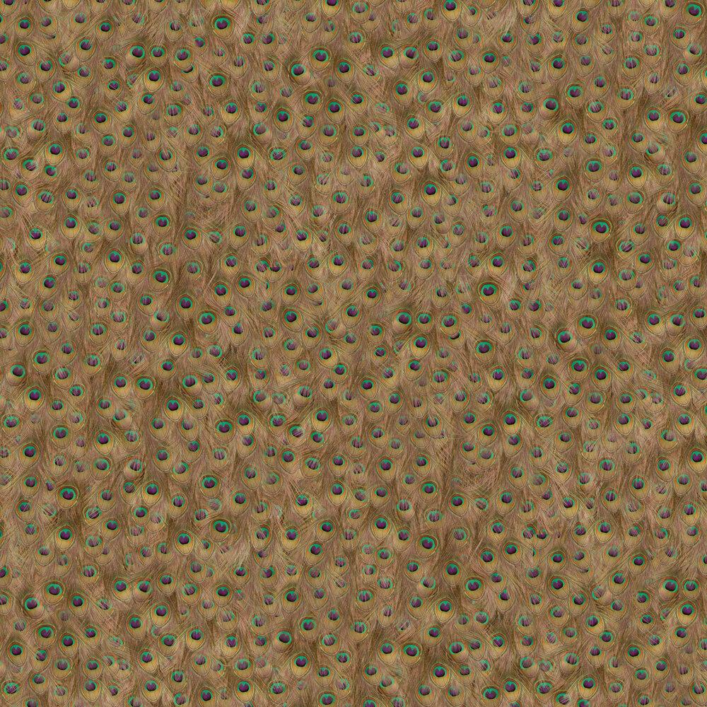 Peafowl Wallpaper - Rust - by Coordonne
