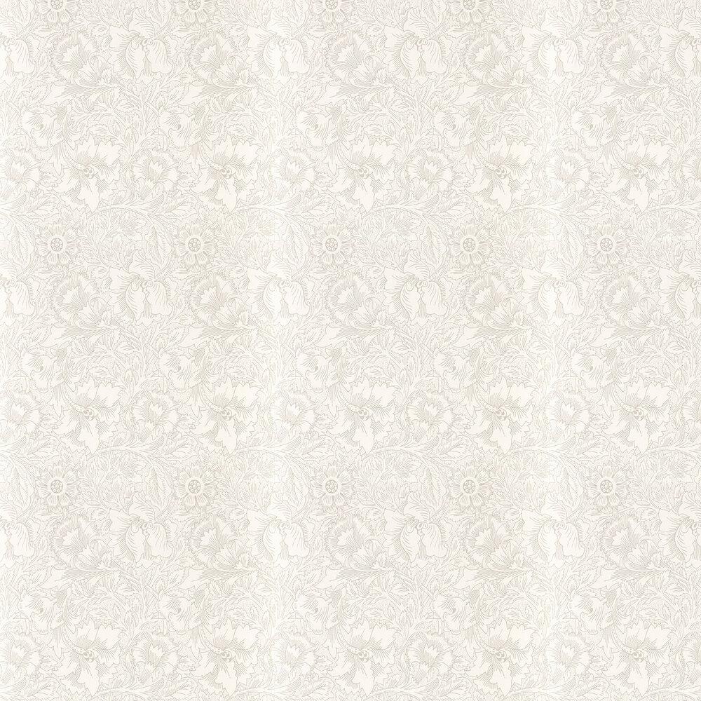 Pure Poppy Wallpaper - Ecru / Stone - by Morris