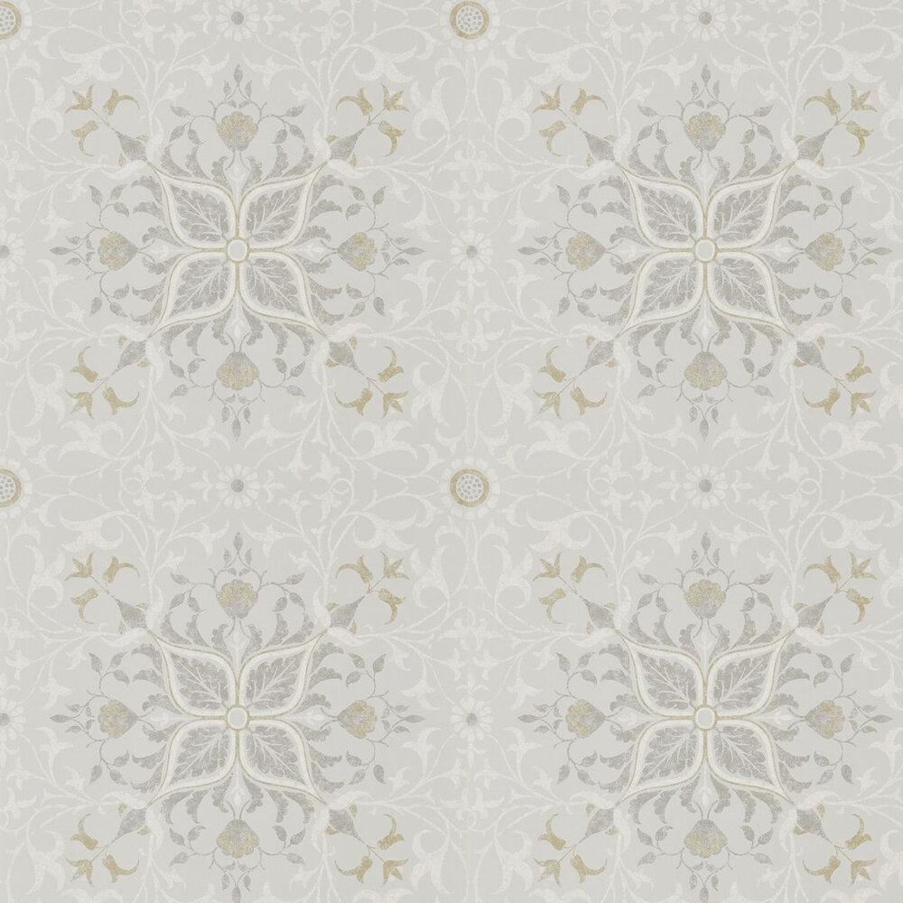 Pure Net Ceiling Wallpaper - Stone / Chalk - by Morris
