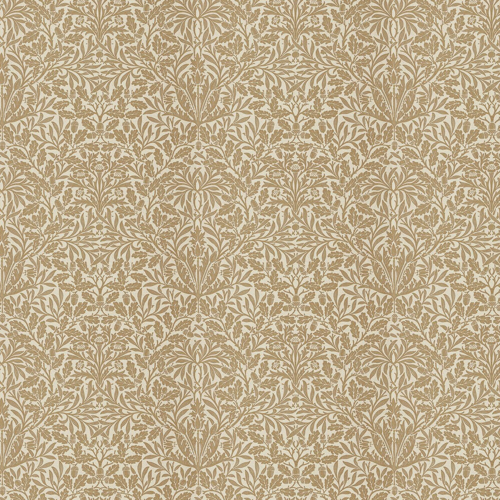 Pure Acorn Wallpaper - Gilver / Copper - by Morris