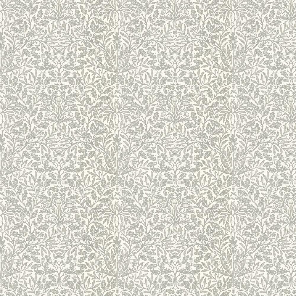 Pure Acorn Wallpaper - Ecru / Pewter - by Morris
