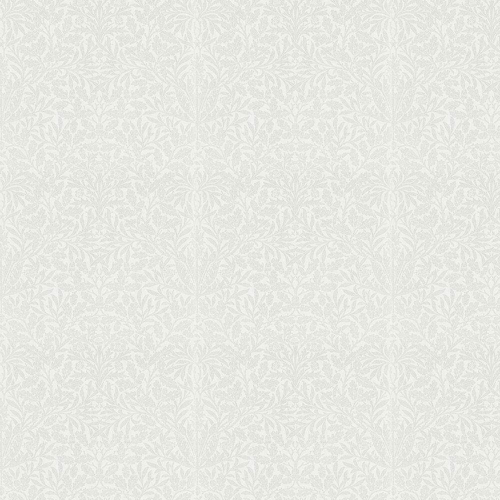 Morris Pure Acorn Chalk / Silver Wallpaper - Product code: 216043