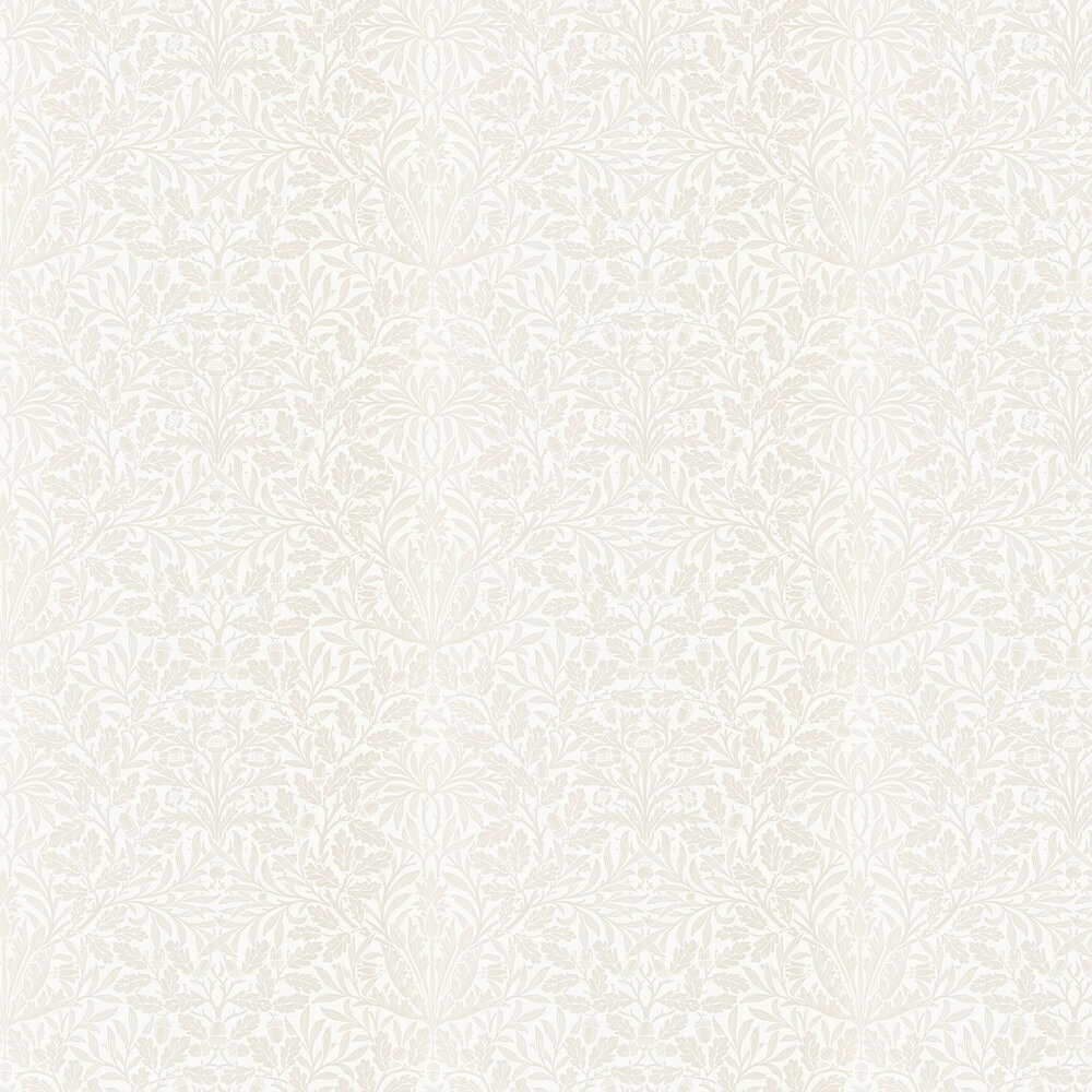 Pure Acorn Wallpaper - Ivory / Pearl - by Morris