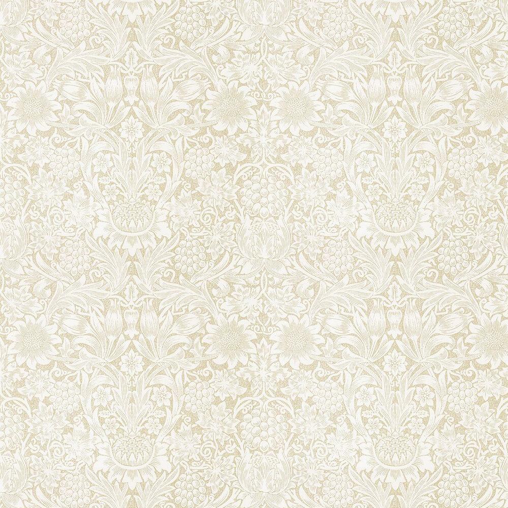 Pure Sunflower Wallpaper - Parchment / Gold - by Morris