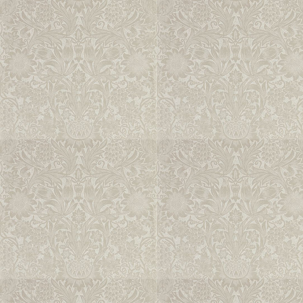 Pure Sunflower Wallpaper - Pearl / Ivory - by Morris