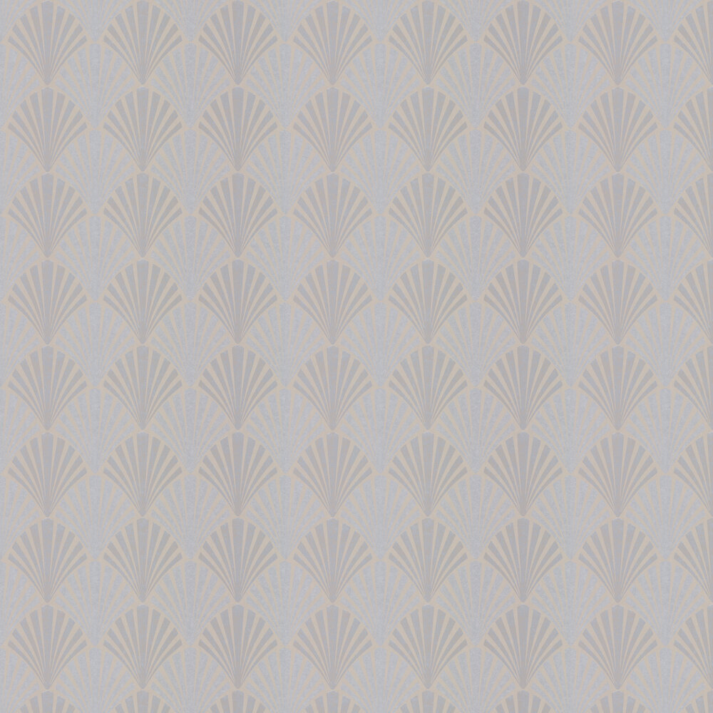 Swing Wallpaper - Silver / Charcoal - by JAB Anstoetz