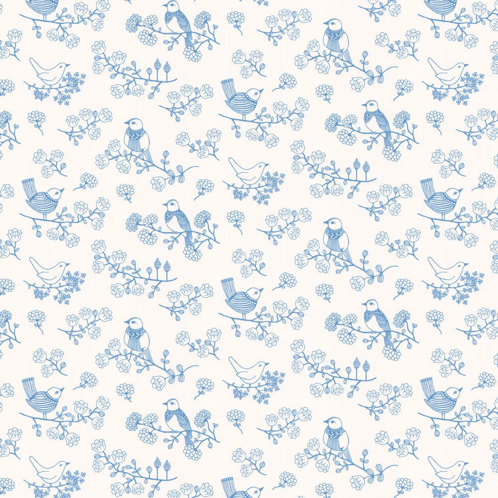 Sugar Tree Wallpaper - Blue - by Majvillan