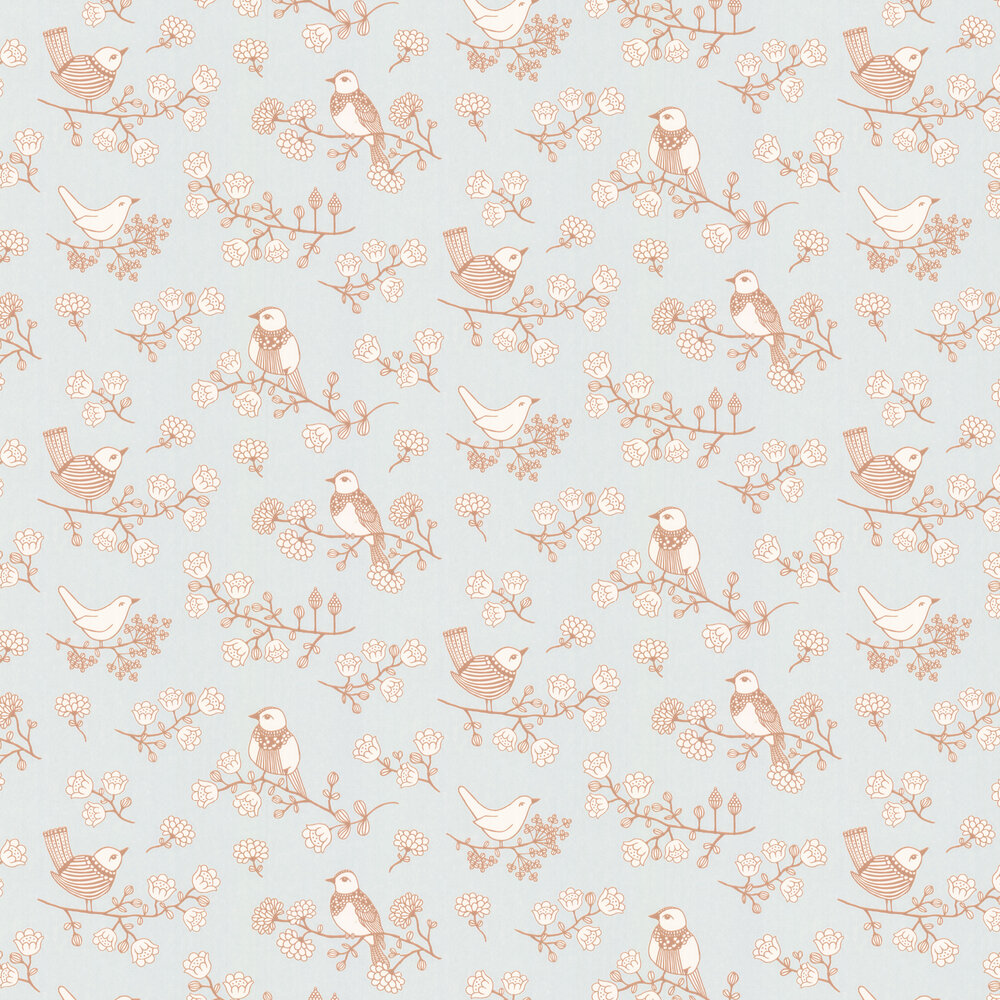 Sugar Tree Wallpaper - Soft Grey - by Majvillan