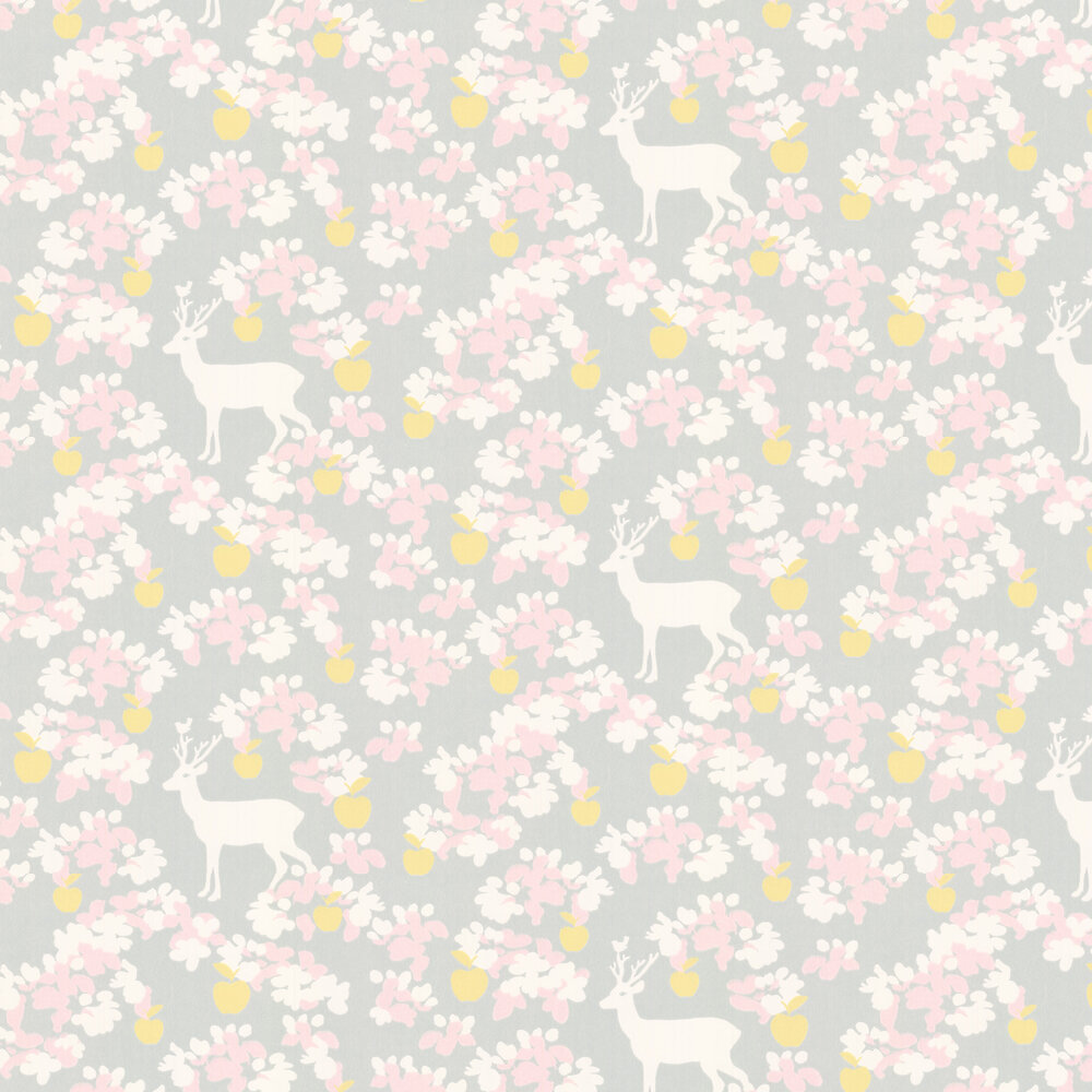 Majvillan Apple Garden Soft Grey Wallpaper - Product code: 107-03