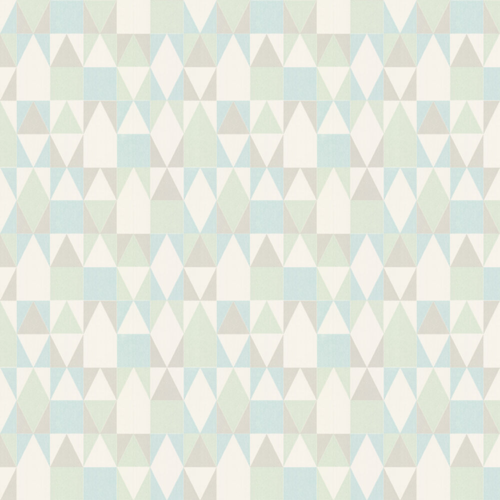 Majvillan Alice Turquoise and Green Wallpaper - Product code: 109-02