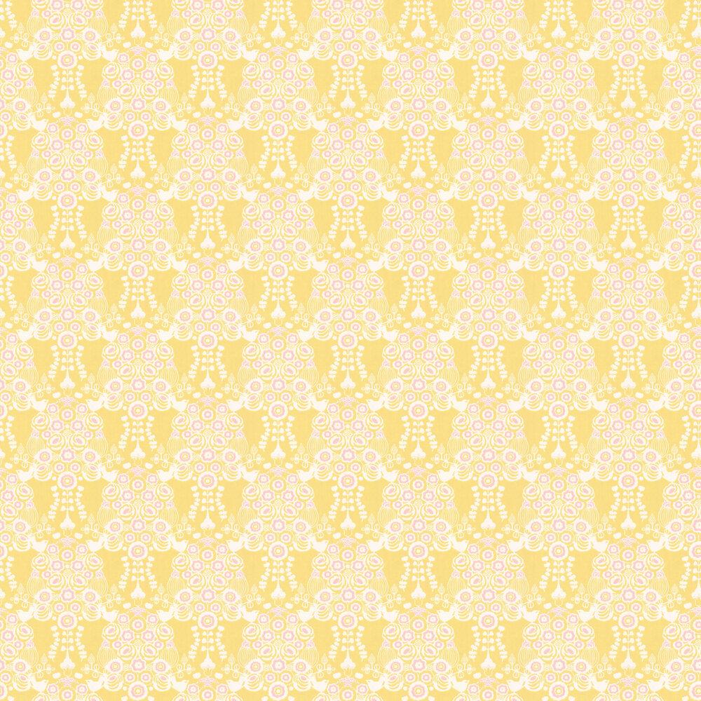 Majvillan Estelle Yellow and Pink Wallpaper - Product code: 110-02
