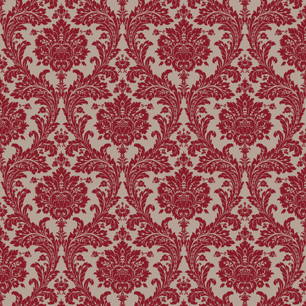 SketchTwenty 3 Grand Damask Wine Wallpaper - Product code: PV00220