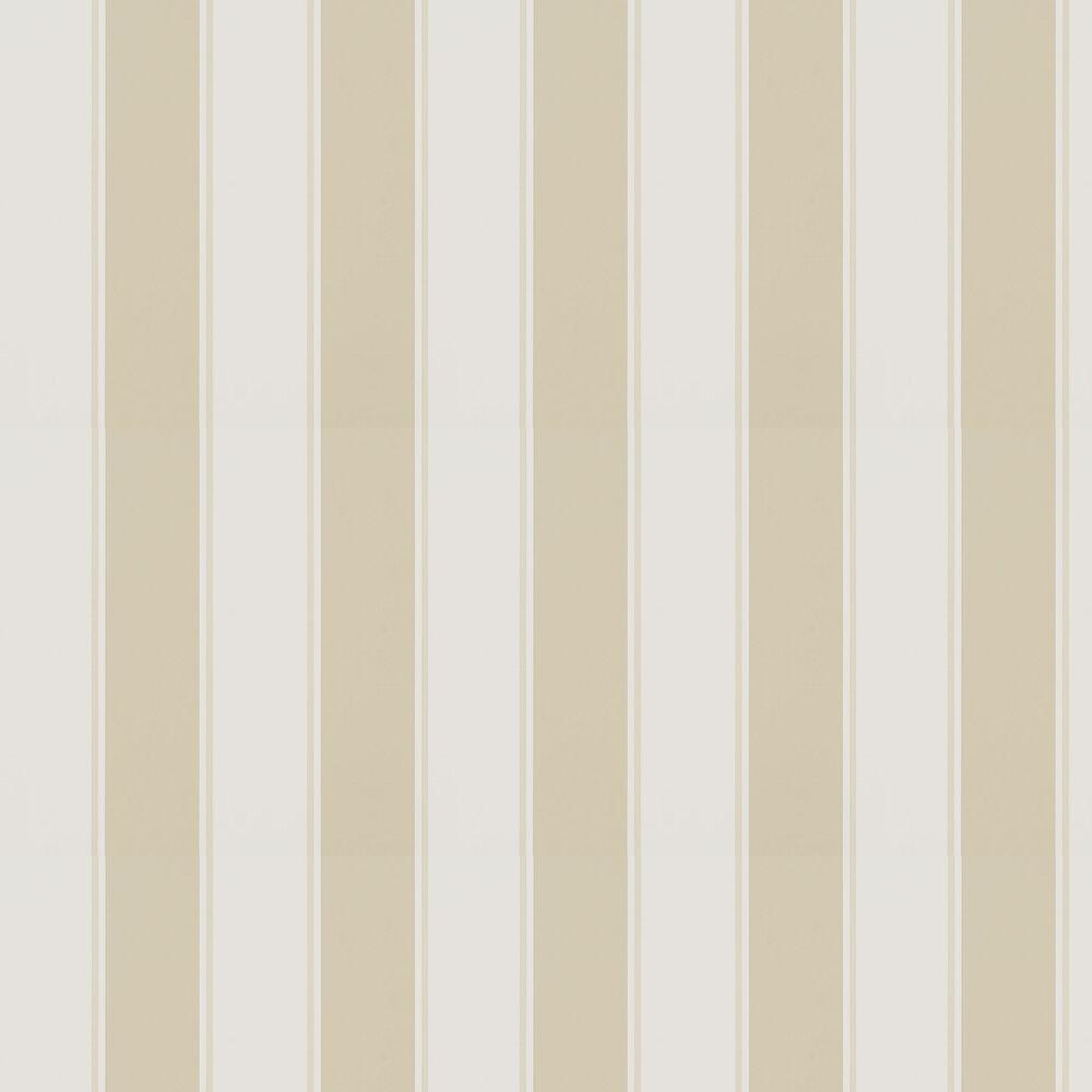Mapleton Stripe Wallpaper - Stone - by Ralph Lauren