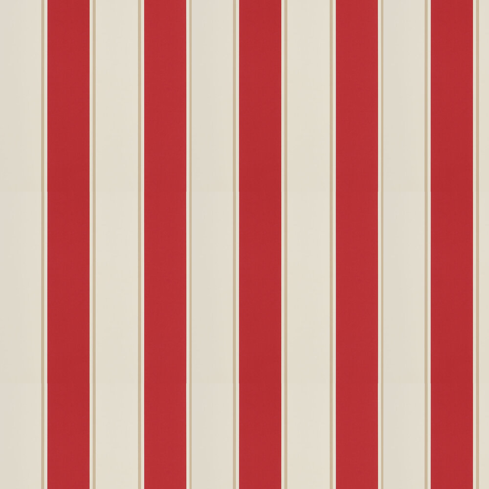 Ralph Lauren Mapleton Stripe Vermilion Wallpaper - Product code: PRL703/08