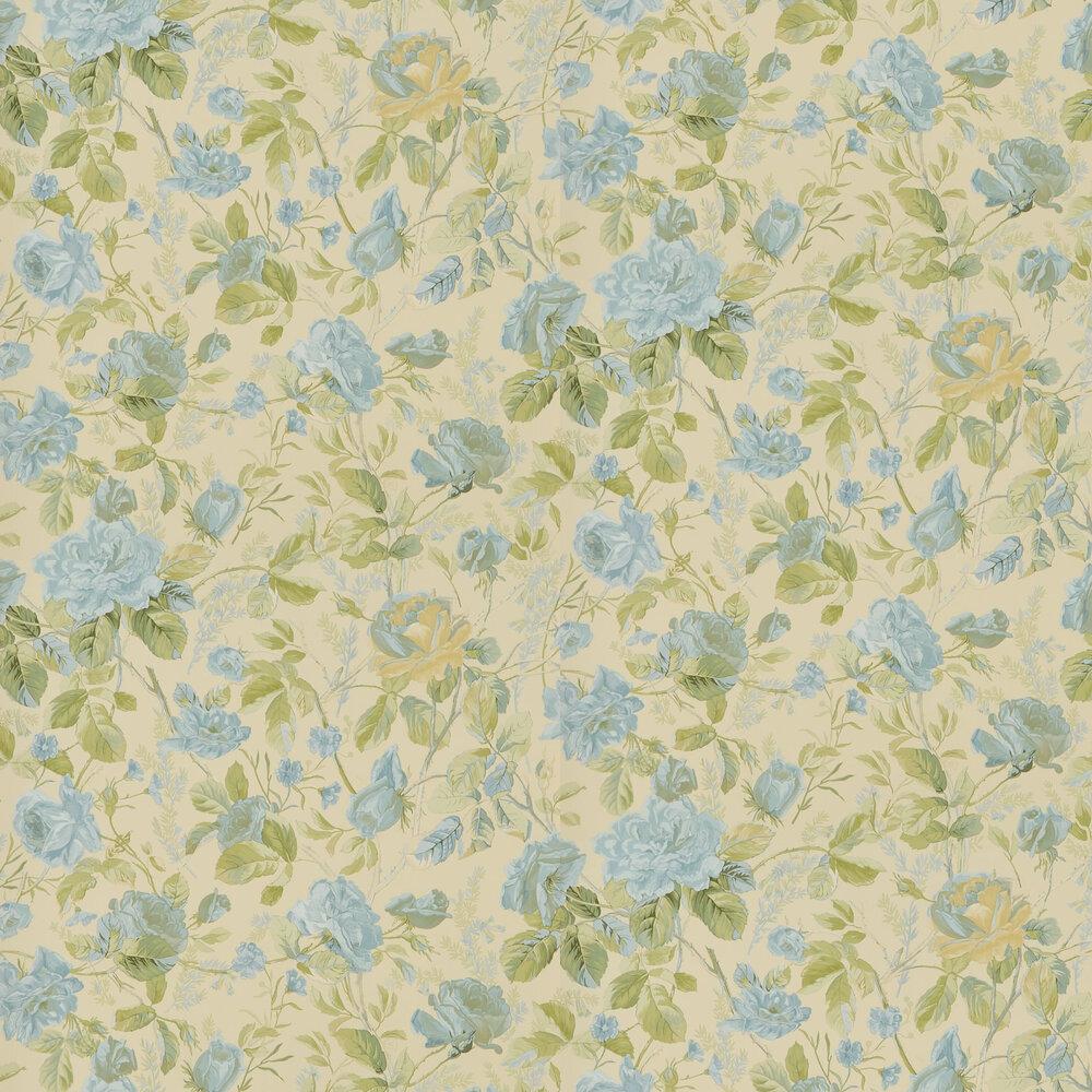 Marston Gate Floral Wallpaper - Blue - by Ralph Lauren