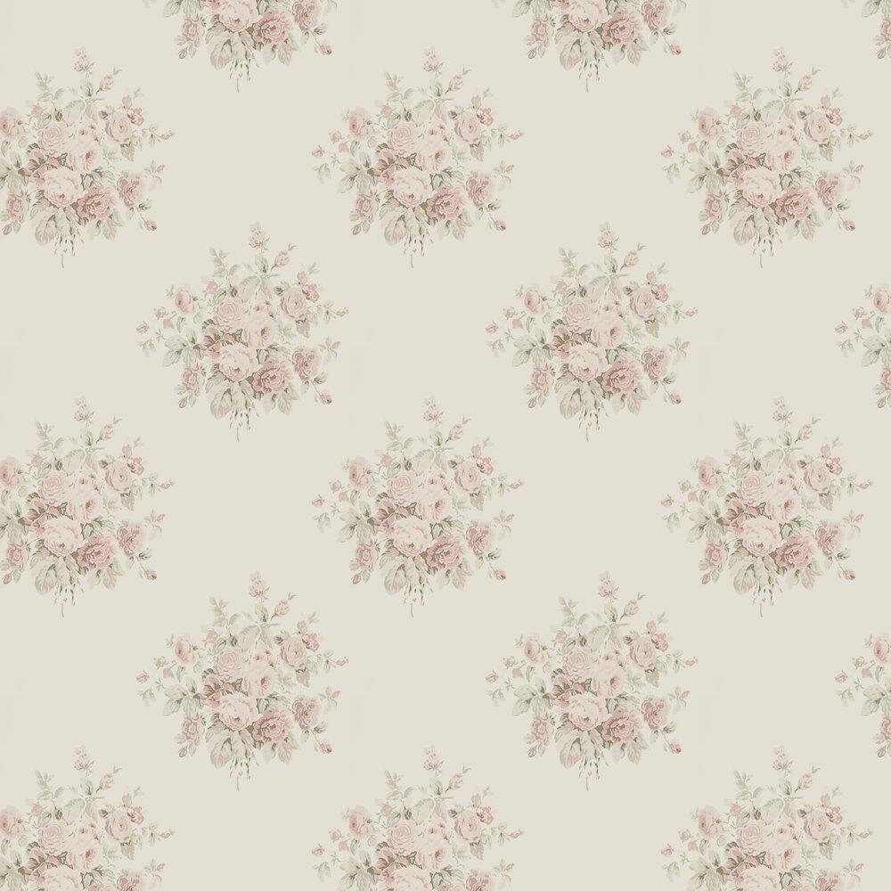 Wainscott Floral Wallpaper - Antique Rose - by Ralph Lauren