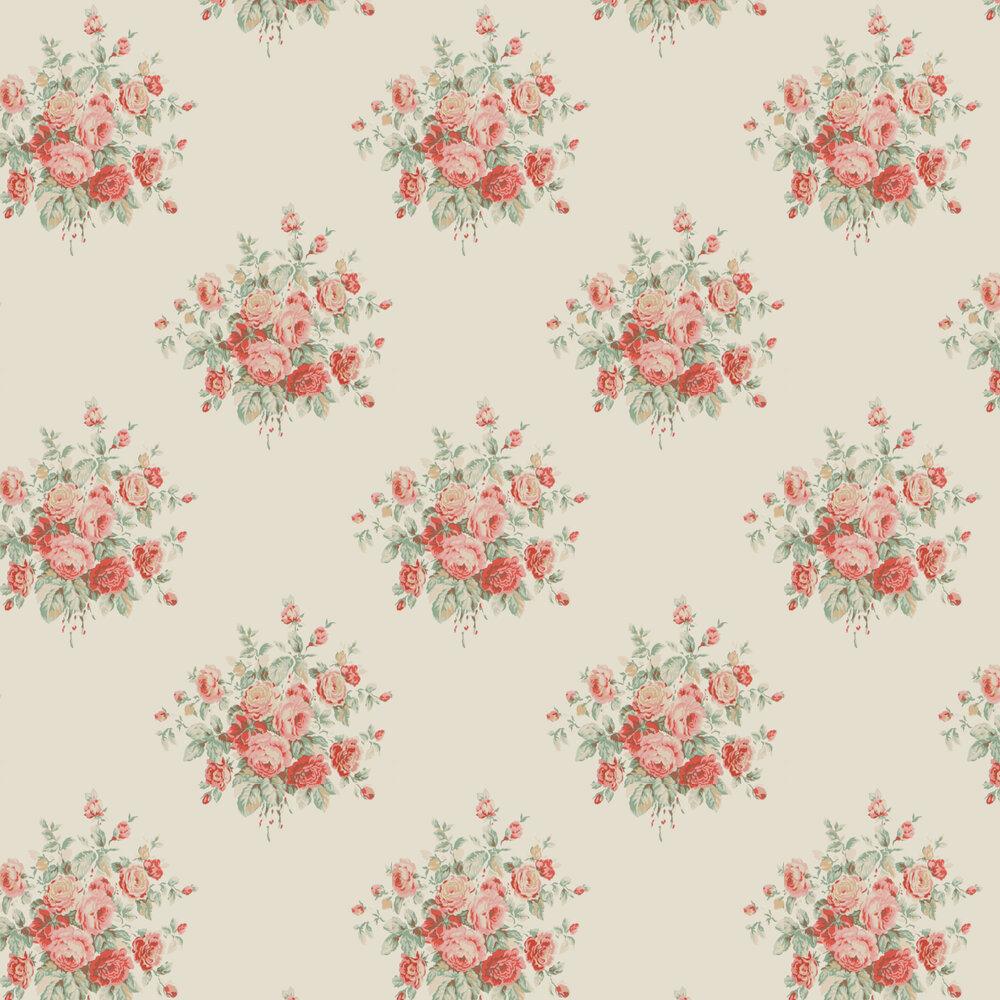 Wainscott Floral Wallpaper - Cream - by Ralph Lauren