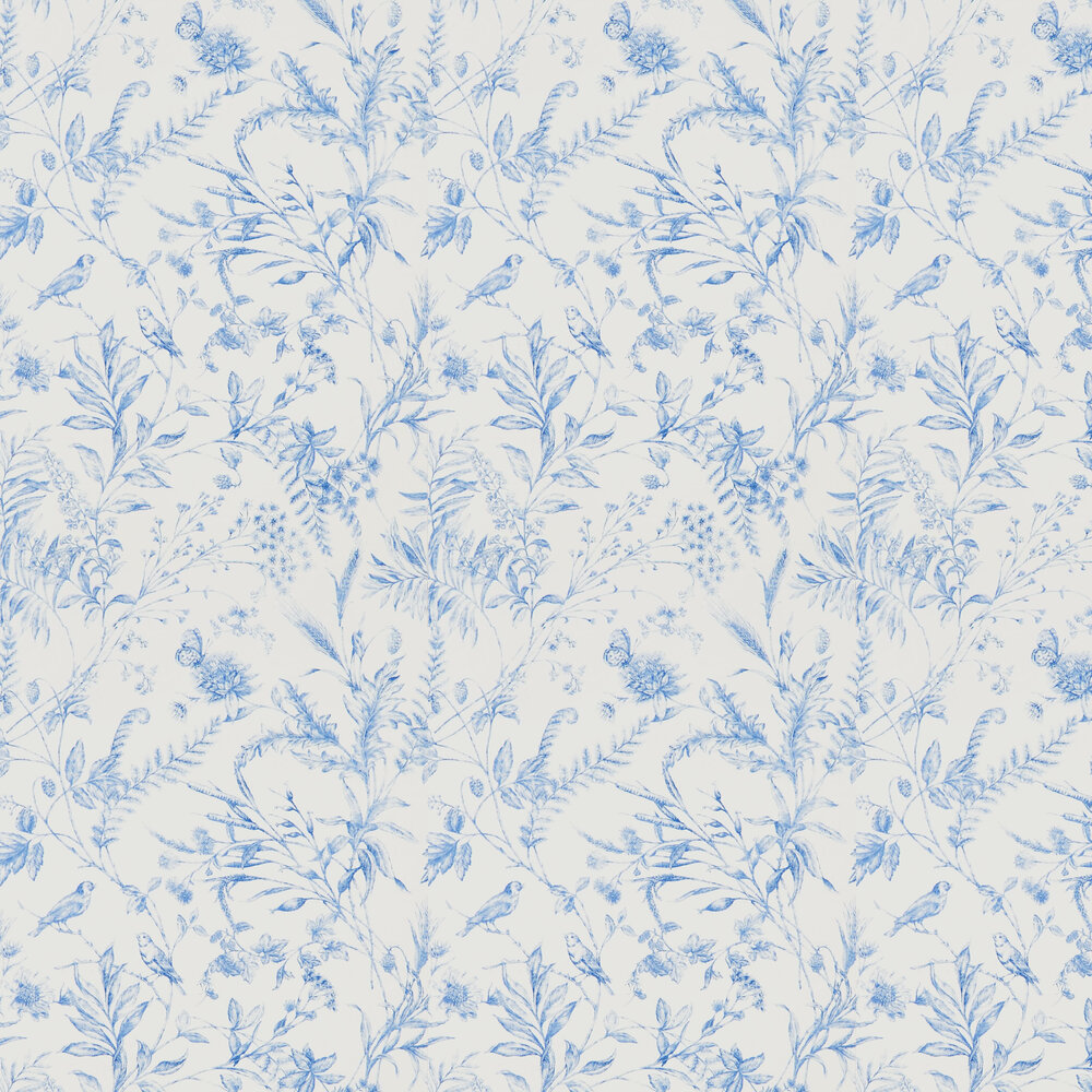 Ralph Lauren Fern Toile Bluebell Wallpaper - Product code: PRL710/02