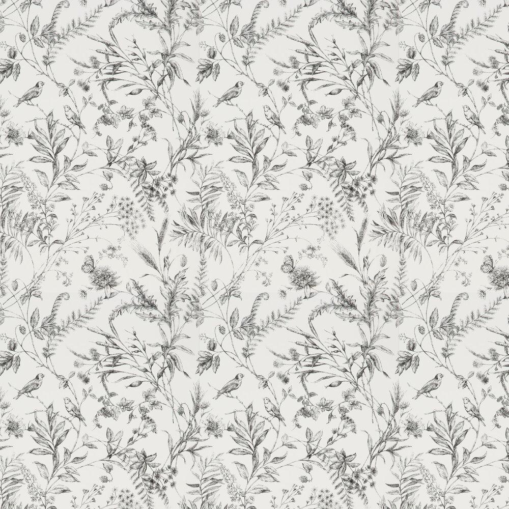 Fern Toile Wallpaper - Etched Black - by Ralph Lauren