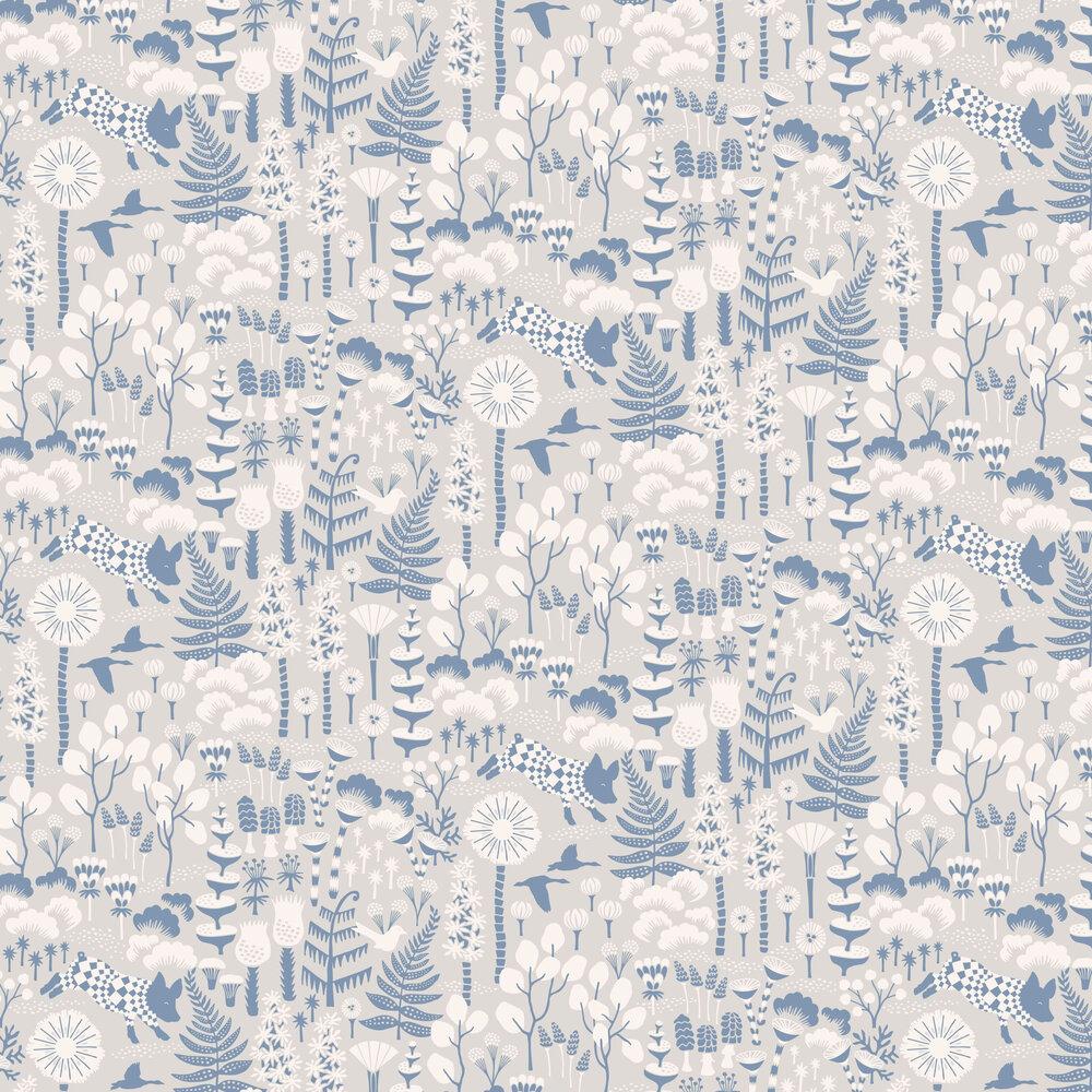 Hoppmosse Wallpaper - Grey - by Boråstapeter