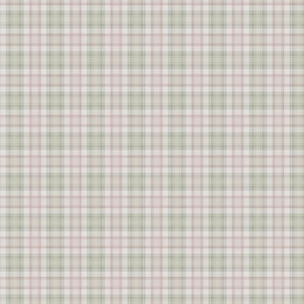 Boråstapeter Tartan Pink Green Wallpaper - Product code: 4005