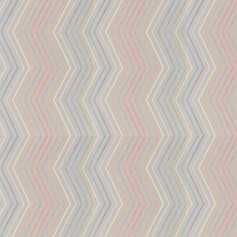 Tresillo  Wallpaper - Coral, Viola and Slate - by Harlequin