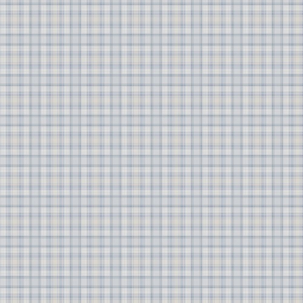 Boråstapeter Tartan Blue and White Wallpaper - Product code: 4006