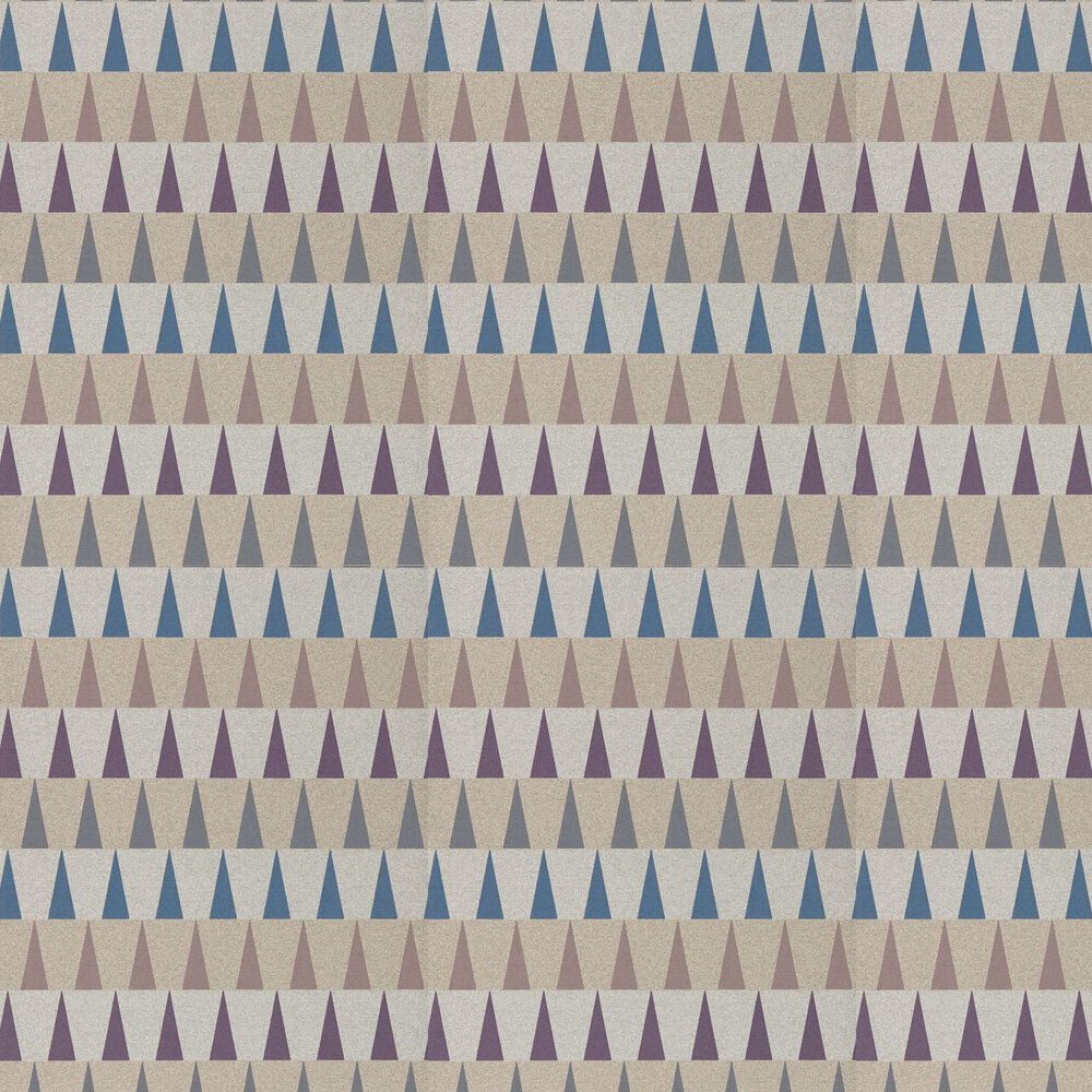 Azul Wallpaper - Damson, Slate and Viola - by Harlequin