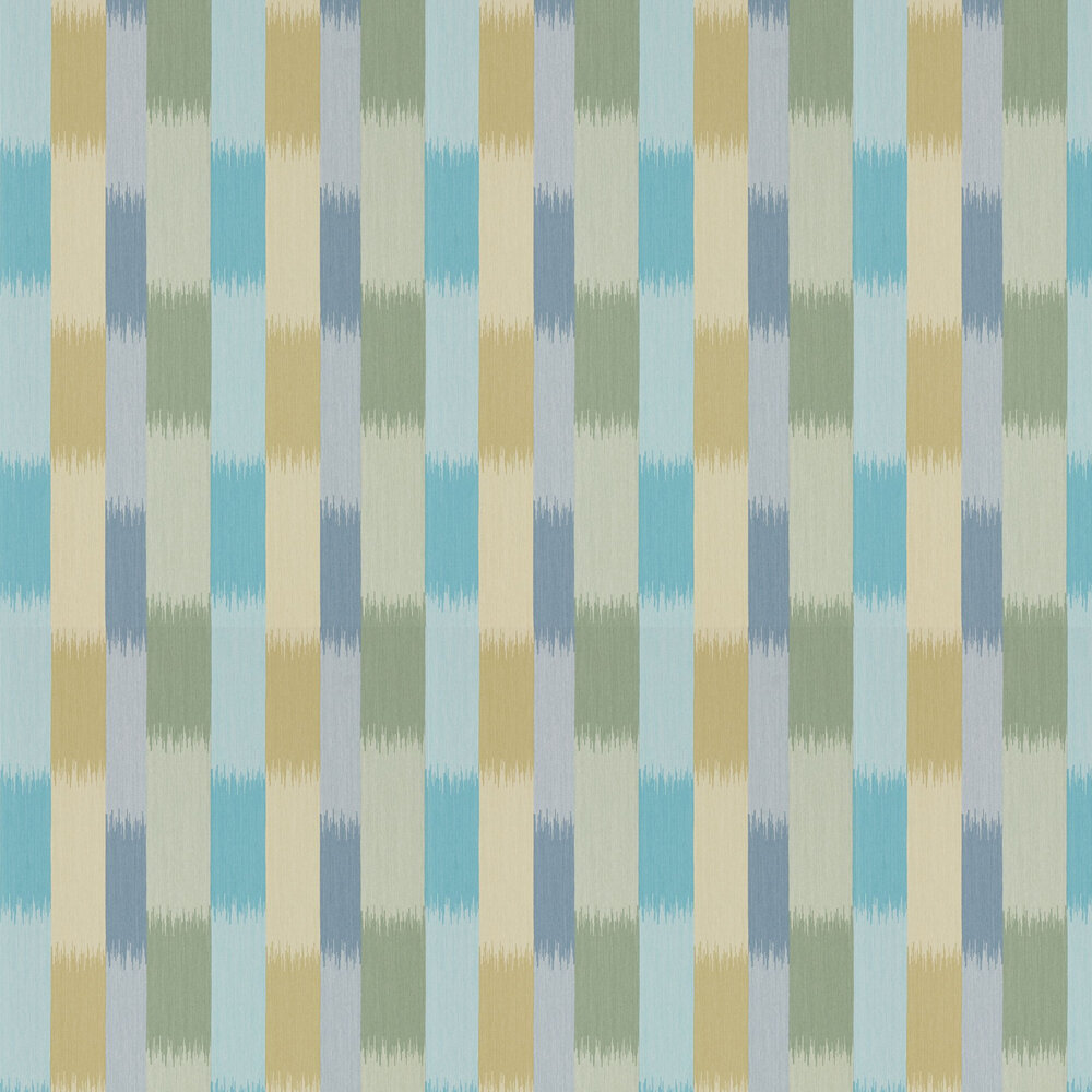 Utto Wallpaper - Emerald, Zest and Azure - by Harlequin