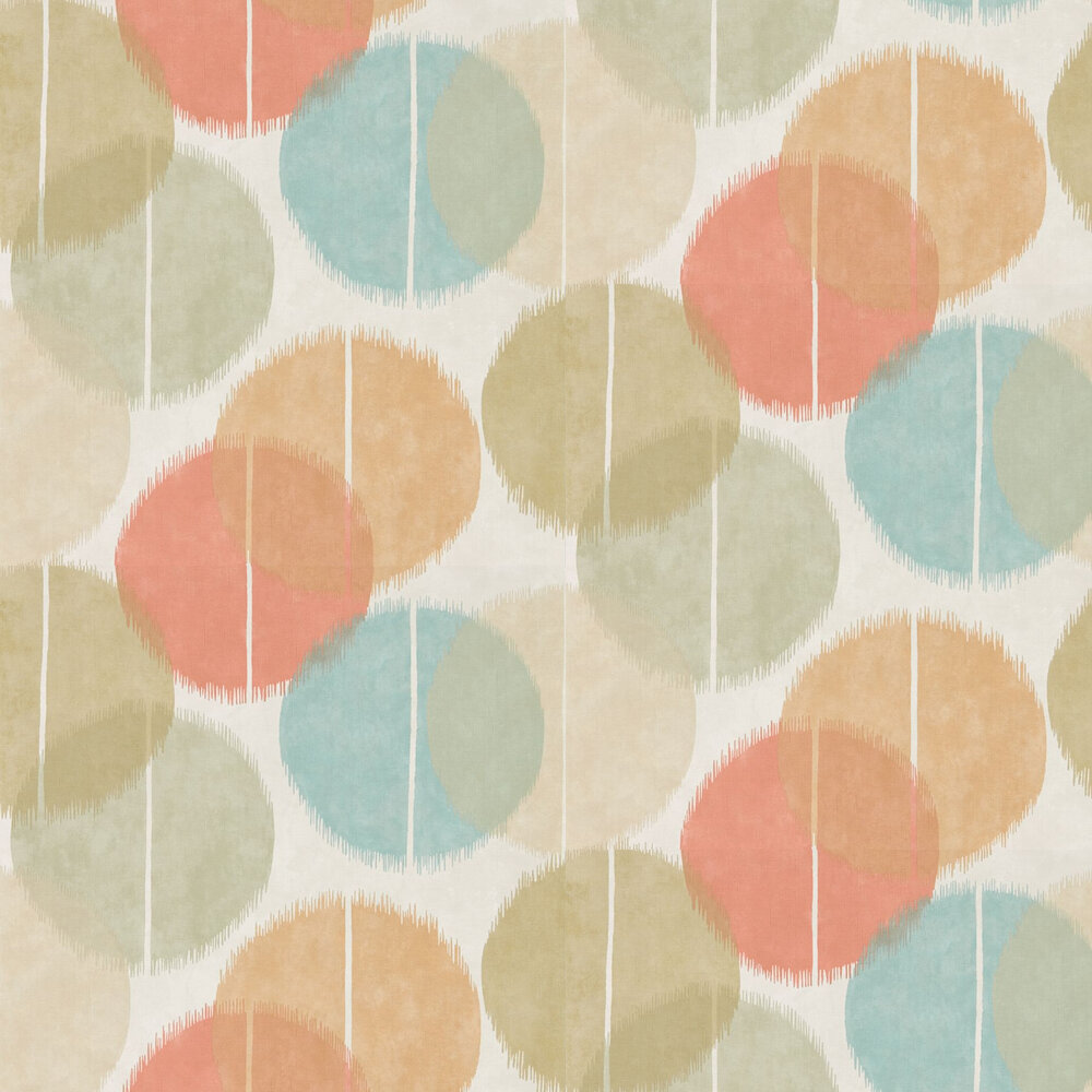 Circulo Wallpaper - Zest and Azure - by Harlequin