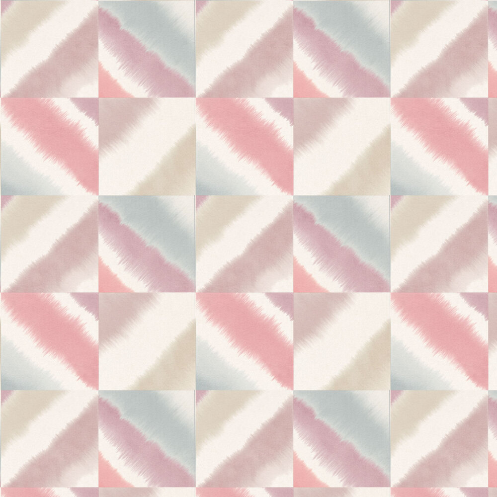 Quadro Wallpaper - Raspberry, Viola and Nordic Blue - by Harlequin